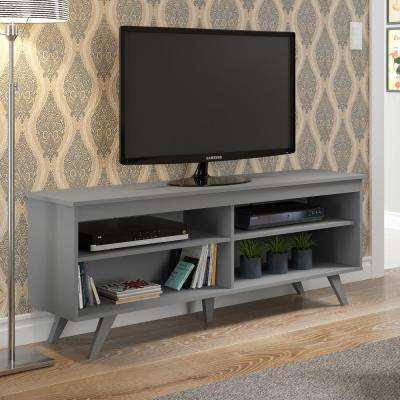 58 in. Wood Simple Contemporary Console - Grey