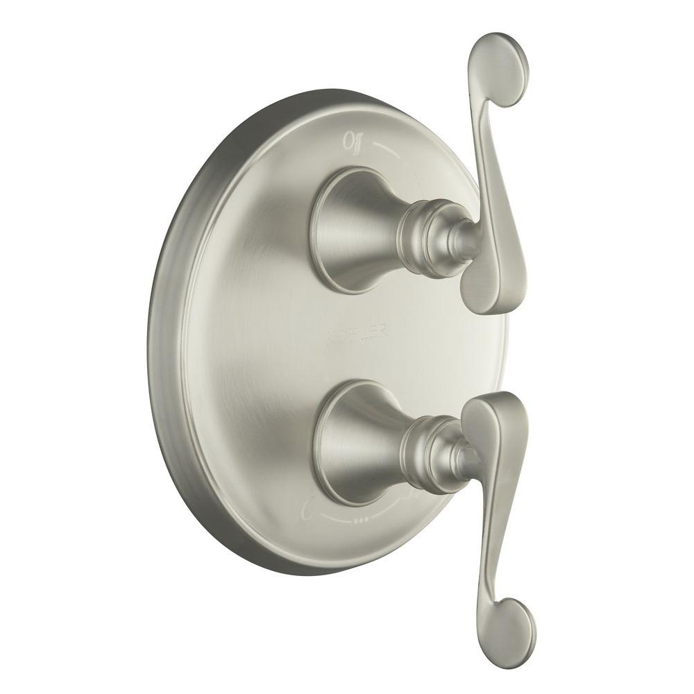 KOHLER Revival 2-Handle Valve Trim Kit in Vibrant Brushed Nickel (Valve Not Included)