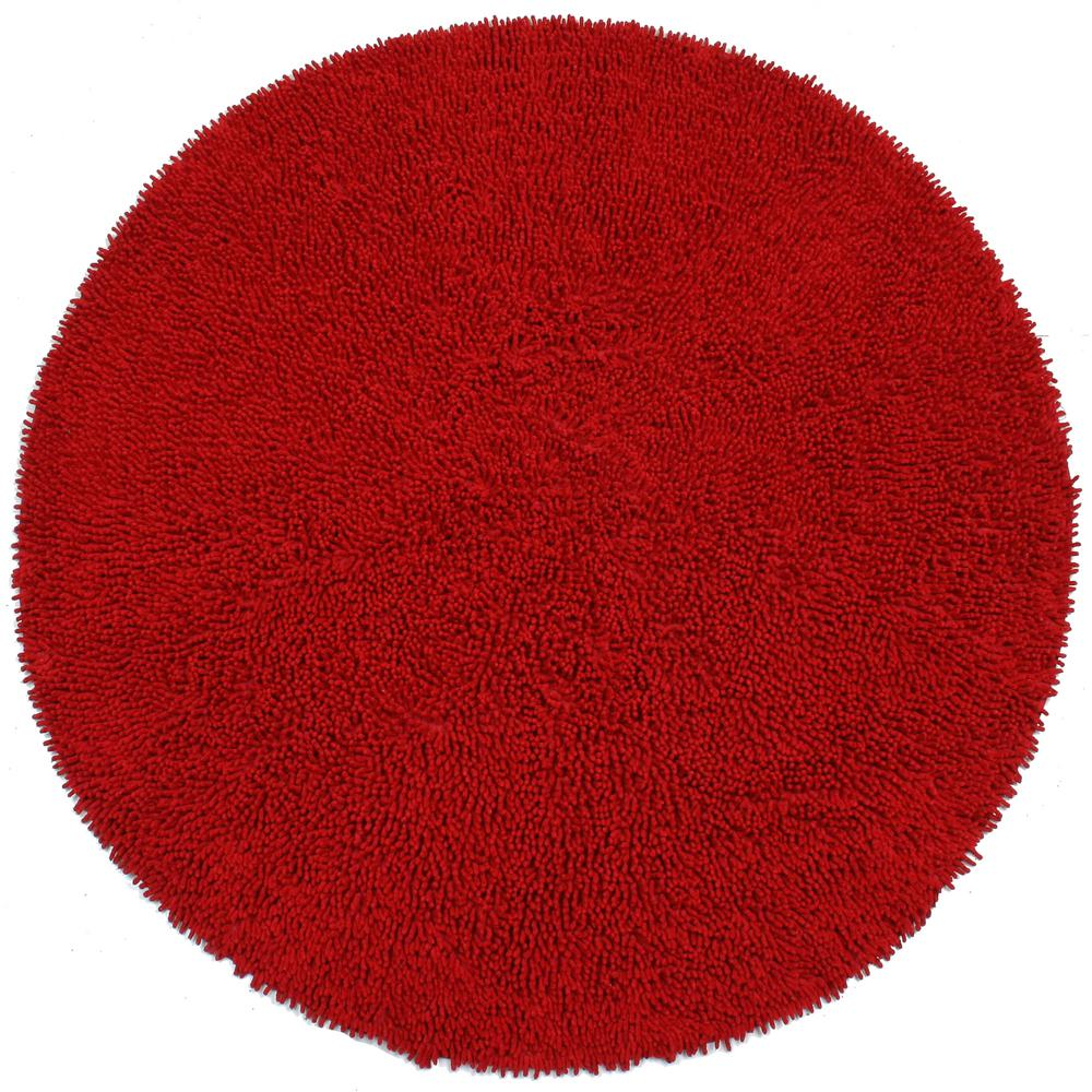 Red Chenille Twist 3 Ft X Round Accent Rug Chs3013r The Home Depot