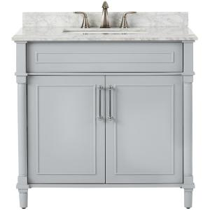 Home Decorators Collection Aberdeen 36 inch W x 22 inch D Single Bath Vanity in Dove Grey... by Home Decorators Collection