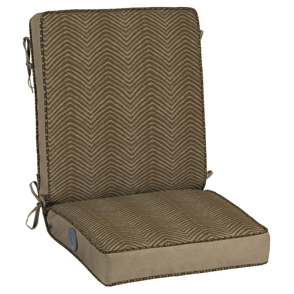 Bombay Outdoors Zebra Adjustable Comfort Outdoor Dining Chair Cushion NE84504D D9B1    The Home Depot
