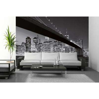 144 in. H x 100 in. W Brooklyn Bridge New York Wall Mural