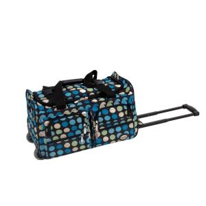 Rockland Voyage 22 in. Rolling Duffle Bag, Mulblue
