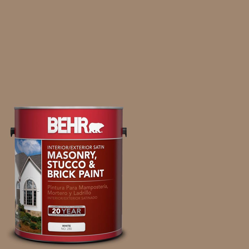 1 gal. #700D-5 Toffee Crunch Satin Interior/Exterior Masonry, Stucco and Brick Paint