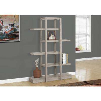 5-Shelf Dark Taupe Display Etagere