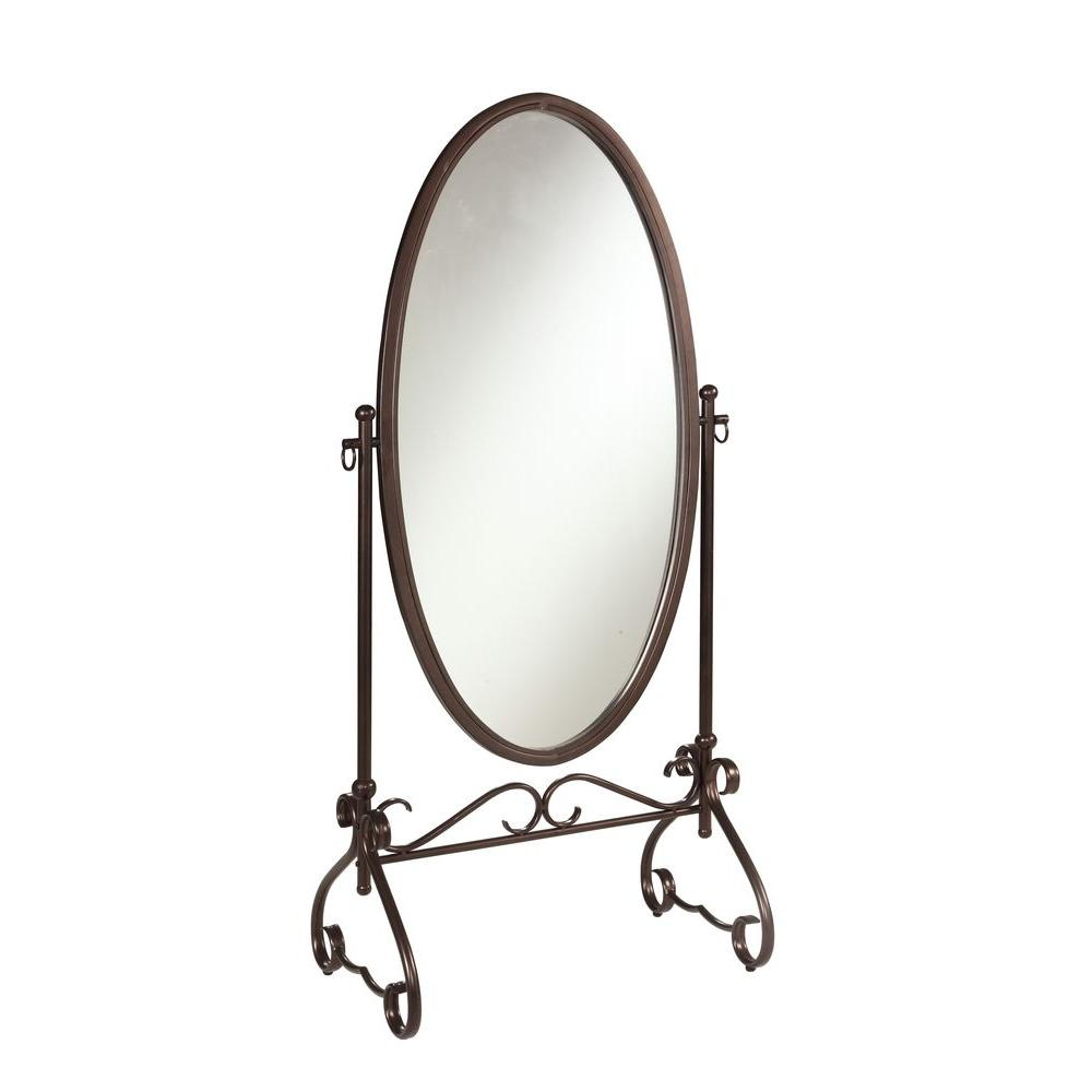 Linon Home Decor Clarisse 63 in. x 26 in. Metal Framed Mirror ...