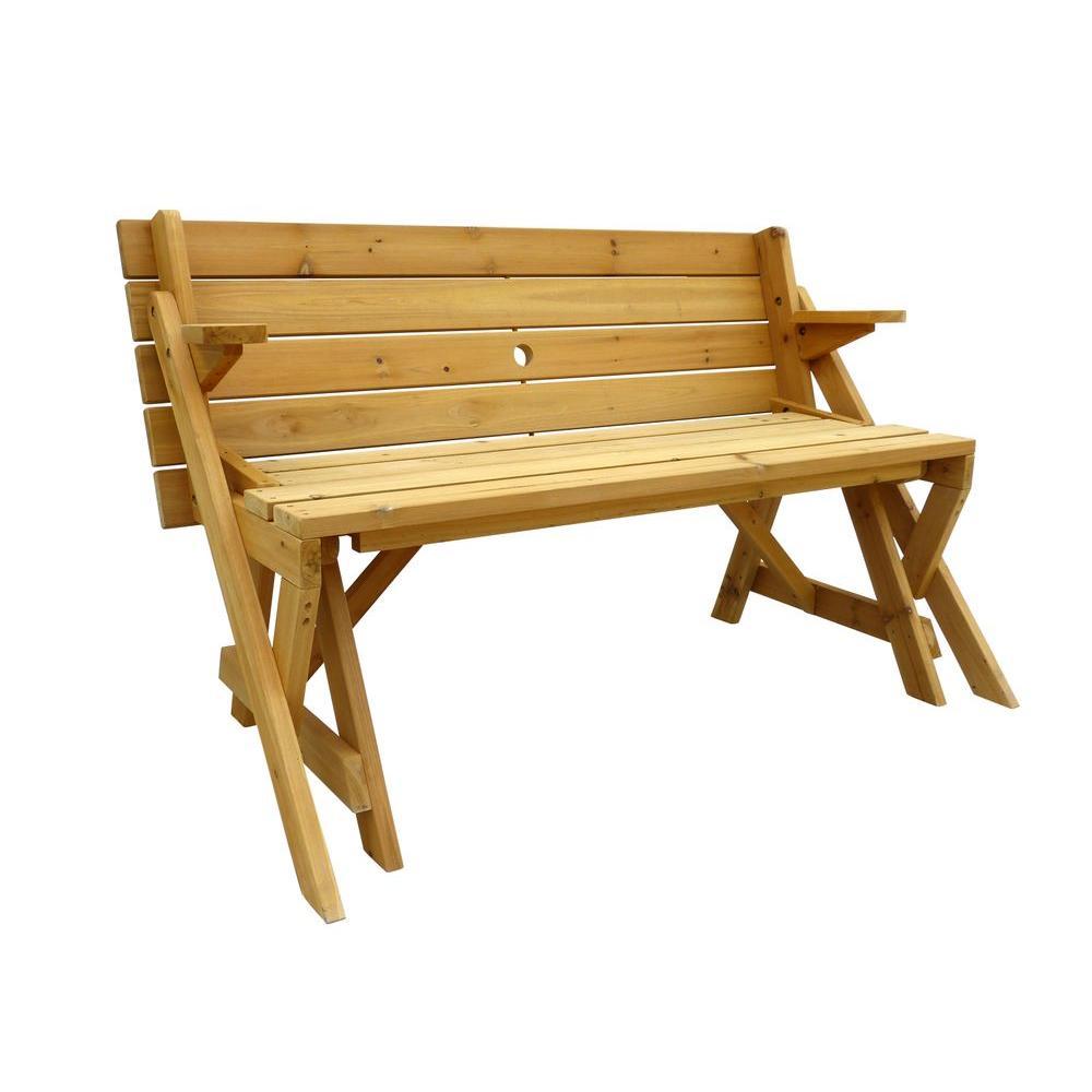 Leisure Season Picnic Tables Cedar Folding Patio Furniture