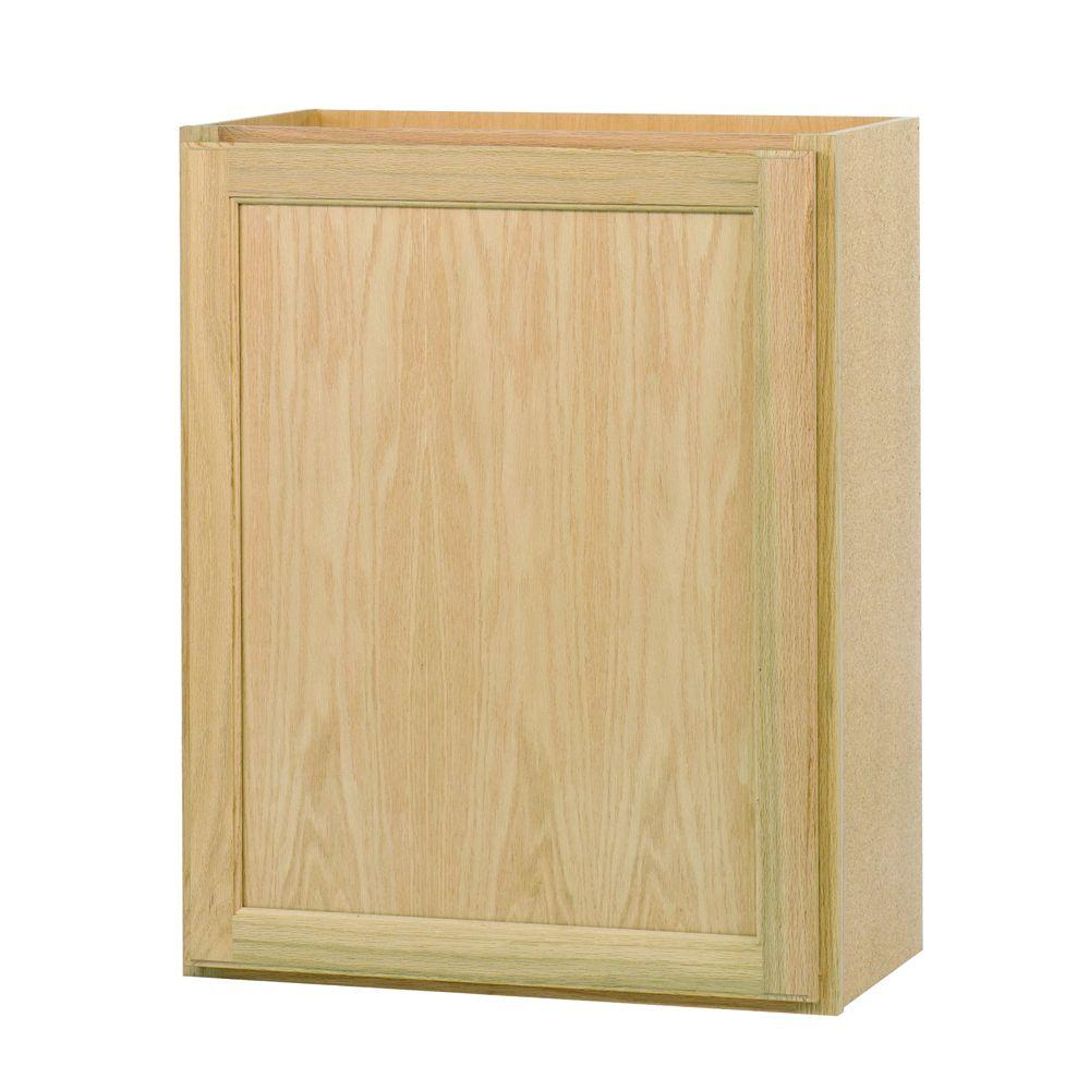 Assembled 24x30x12 in. Wall Kitchen Cabinet in Unfinished Oak ...