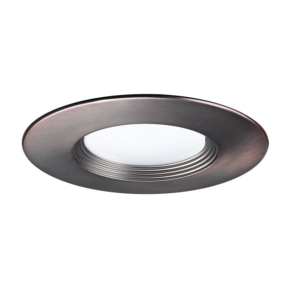 5 in. and 6 in. Bronze Recessed LED Baffled Trim