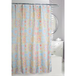 Vallhara 71 inch Multi Color Fabric Shower Curtain by