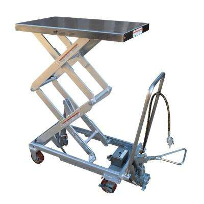 800 lb. 20.5 x 45 in. Hydraulic Steel Cart