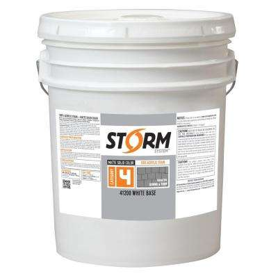 Category 4 5 gal. White Matte Exterior Wood Siding 100% Acrylic Stain
