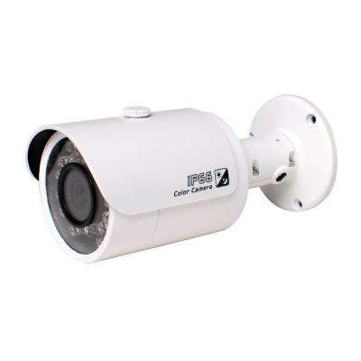 Indoor or Outdoor 1 Megapixel 720P HD-CVI Wired Bullet Standard Surveillance Camera with 3.6 mm Lens and 24 IR LED
