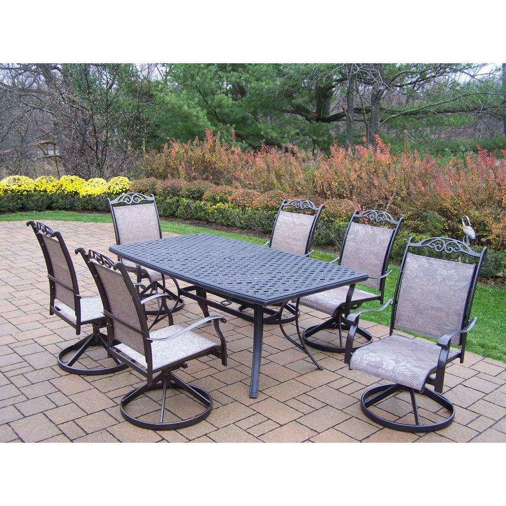 Cascade Coffee 7-Piece Aluminum Outdoor Dining Set