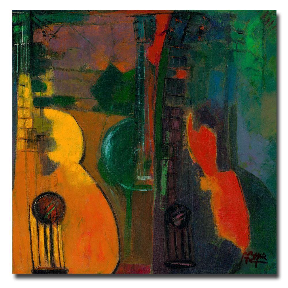 24 in. x 24 in. Guitars Canvas Art