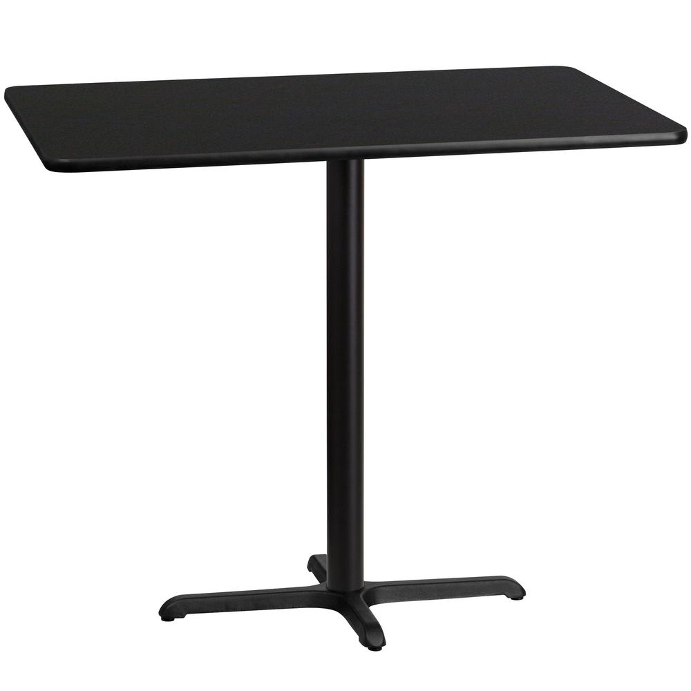 Rectangular Black Laminate Table Top With 22