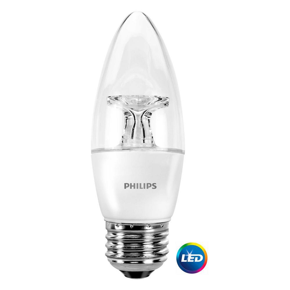 40-Watt Equivalent Soft White Dimmable B11 LED Energy Star Light Bulb (3-Pack)