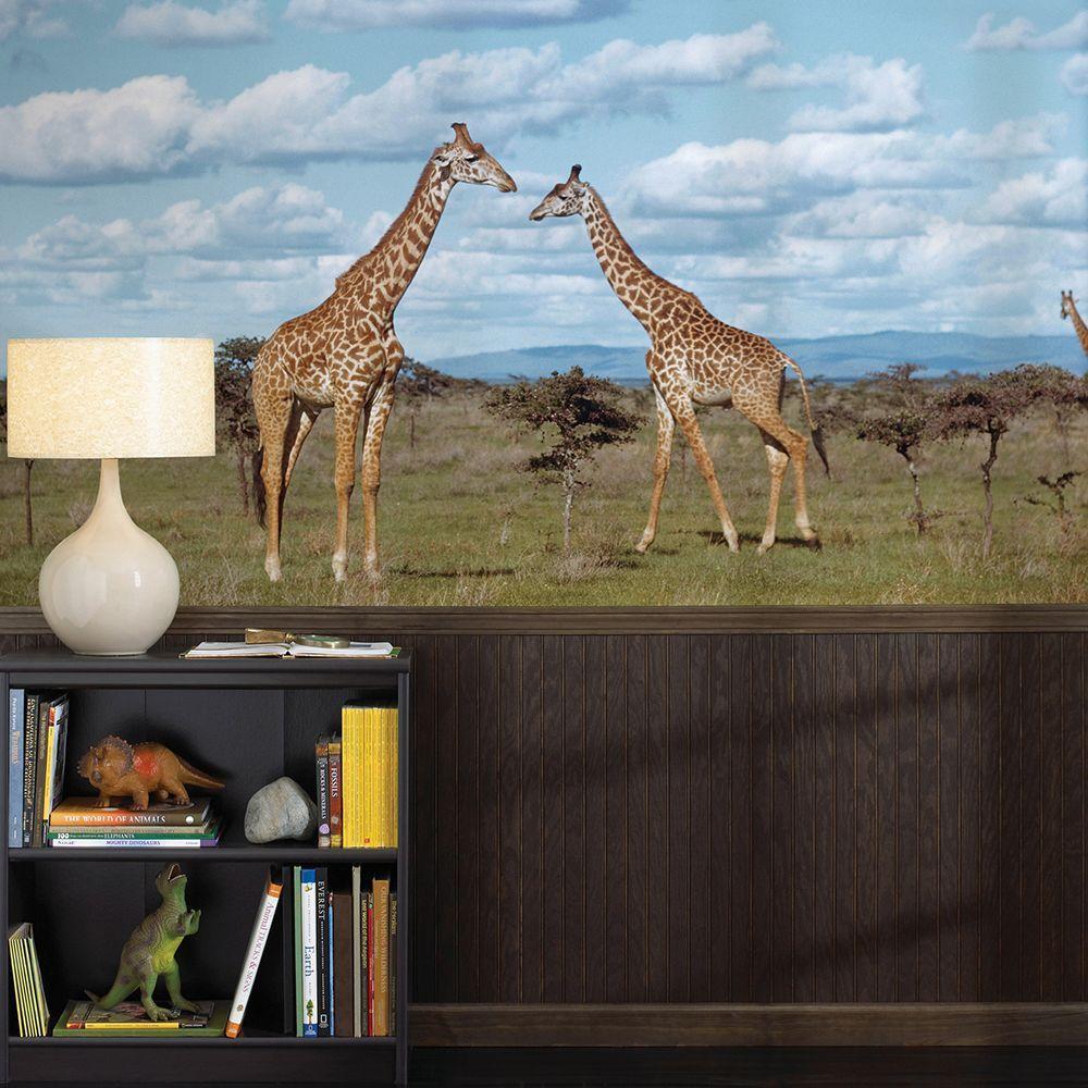 72 in. H x 48 in. W Giraffes Wall Mural