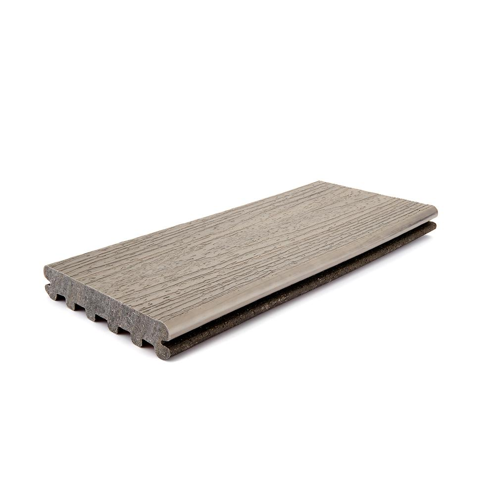 Trex Enhance Naturals 1 In X 5 5 In X 12 Ft Rocky Harbor Grooved Edge Capped Composite Decking Board Rh010612e2g01 The Home Depot