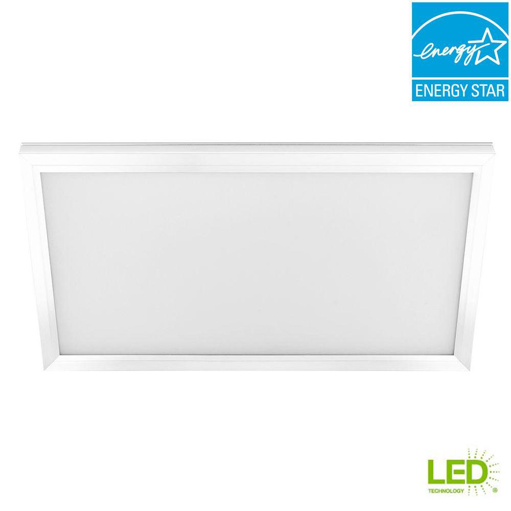 1 ft. x 2 ft. 23-Watt White Integrated LED Edge-Lit Flat