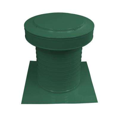 10 in. Dia Keepa Aluminum Roof Static Vent for Flat Roofs in Green