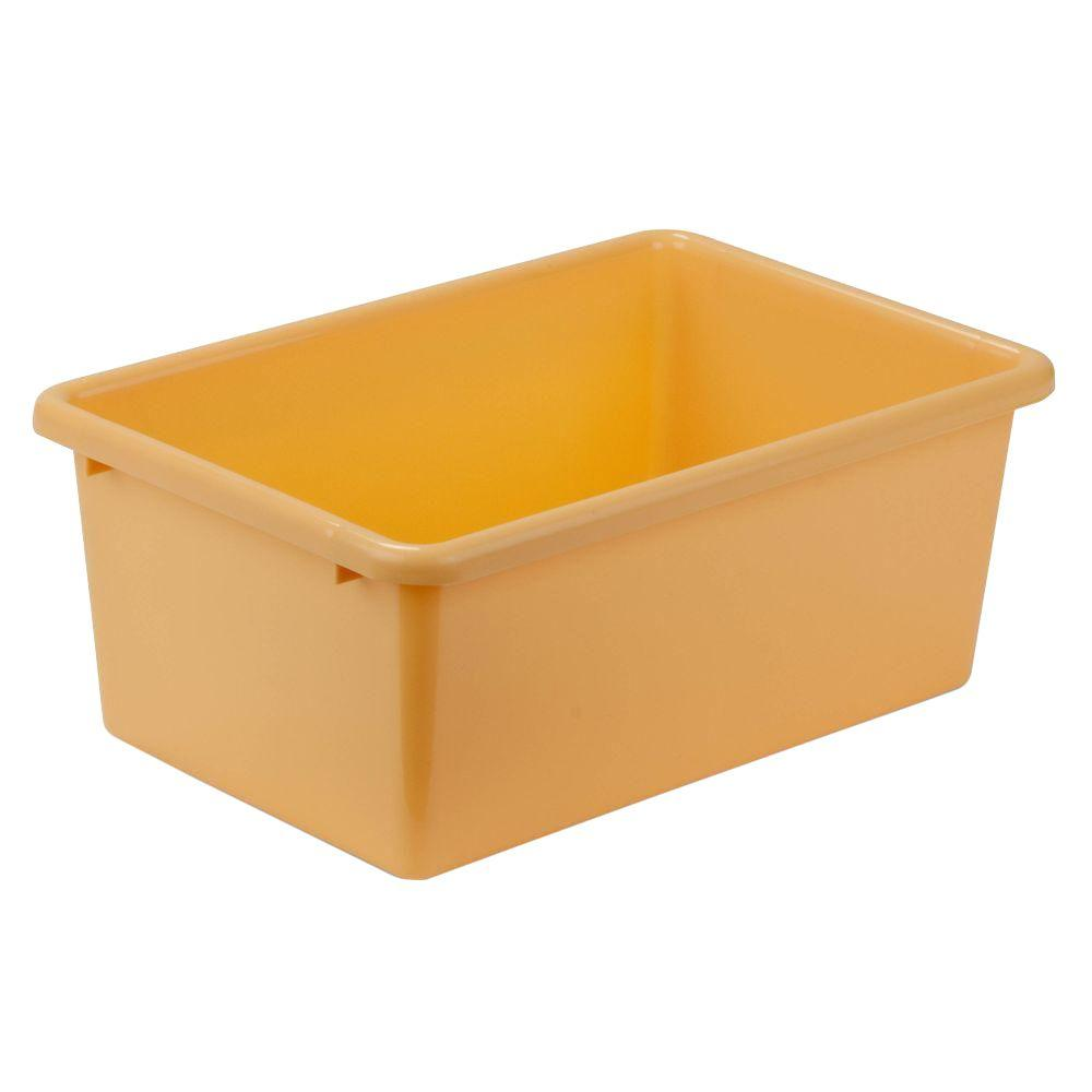 Honey-Can-Do 7.9-Qt. Storage Bin in Yellow