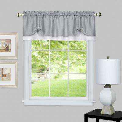 Darcy 14 in. L Polyester Valance in Grey/White