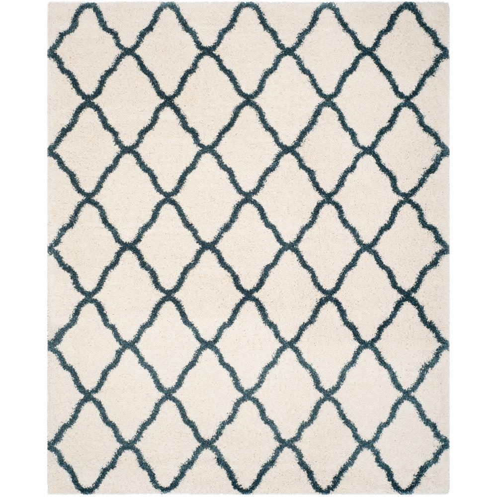 Safavieh Hudson Shag Ivory Slate Blue 9 Ft X 12 Ft Area
