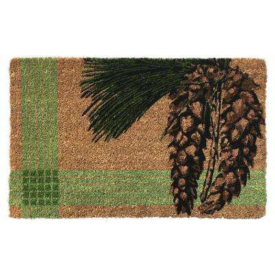 White Pine 35 in. x 22 in. Hand Woven Coconut Fiber Door Mat