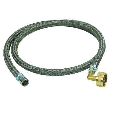 3/8 in. Compression x 3/4 in. Garden Hose Swivel Elbow x 48 in. Braided Polymer Dishwasher Connector