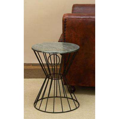 Rustic Metal Wire 18 in. Concave Stool
