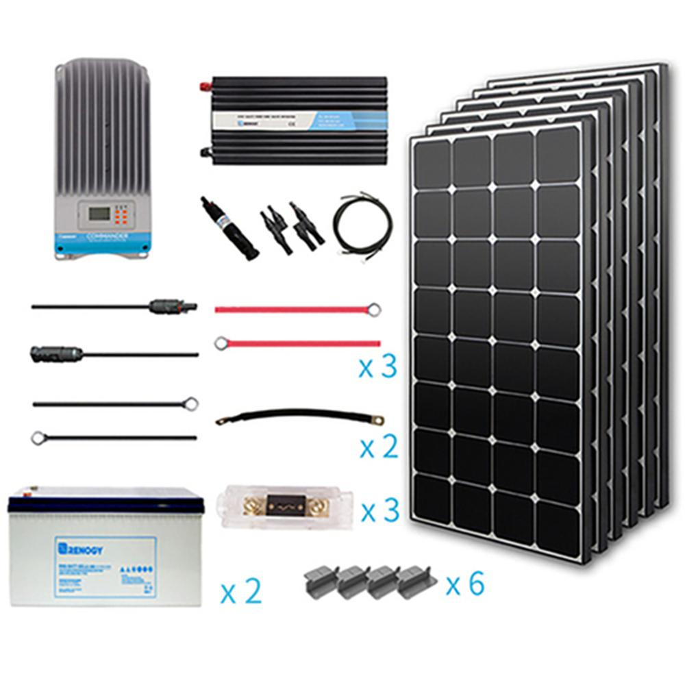 Renogy 600 Watt Eclipse Off Grid Complete Kit With Mono