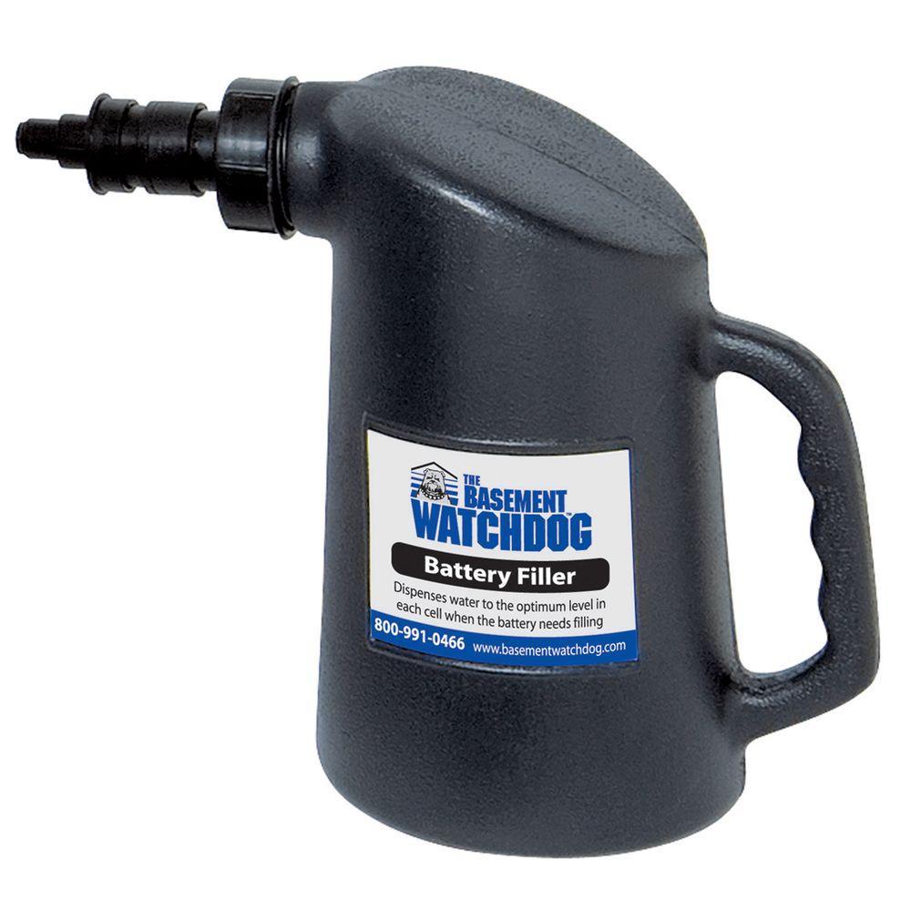 64 oz black battery filler bottle - Watchdog Sump Pump