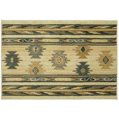 Aegean Red Rock Canyon Beige 2 ft. 6 in. x 3 ft. 9 in. Accent Rug