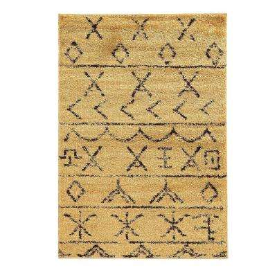 Moroccan Collection Atlas Camel and Brown 8 ft. x 10 ft. Indoor Area Rug