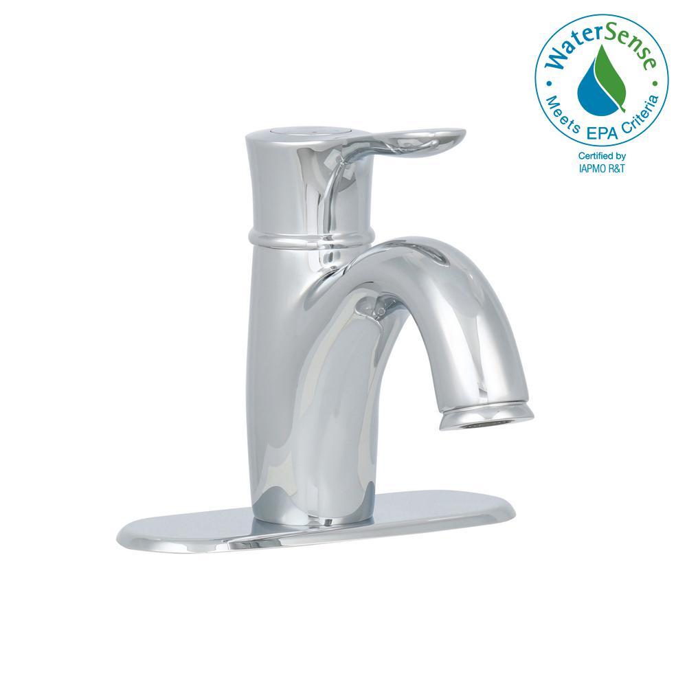 Parkfield Single Hole Single-Handle Bathroom Faucet with Escutcheon in StarLight Chrome