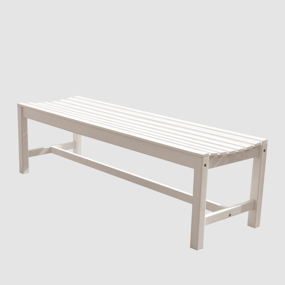 Backless Patio Bench V1614   The Home Depot