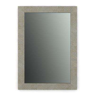 29 in. x 41 in. (M3) Rectangular Framed Mirror with Standard Glass and Easy-Cleat Float Mount Hardware In Stone Mosaic