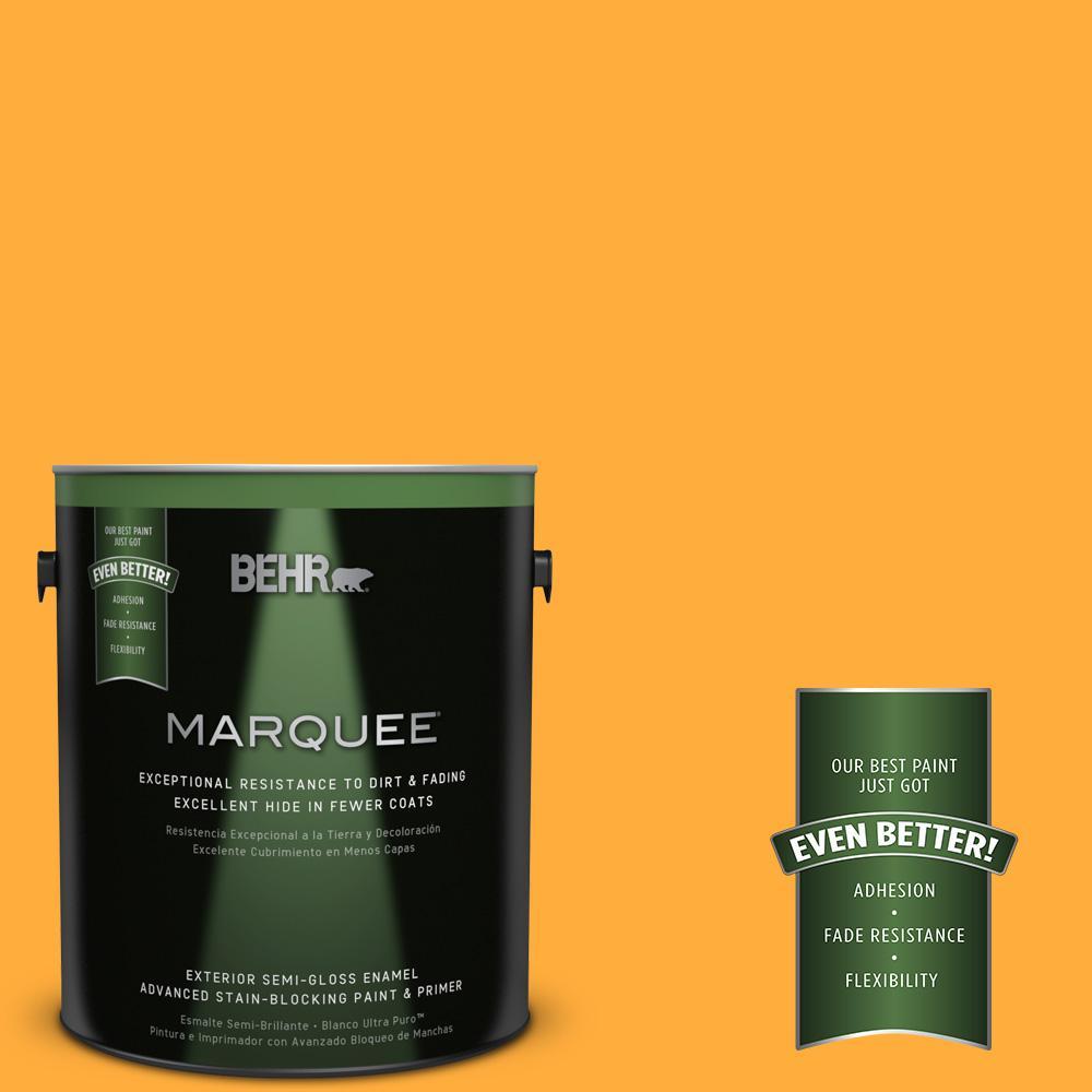 BEHR MARQUEE 1-gal. #S-G-310 Peach Butter Semi-Gloss Enamel Exterior Paint