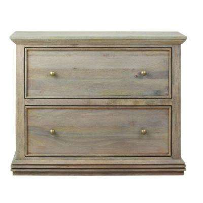 Marvelous Aldridge Antique Grey File Cabinet