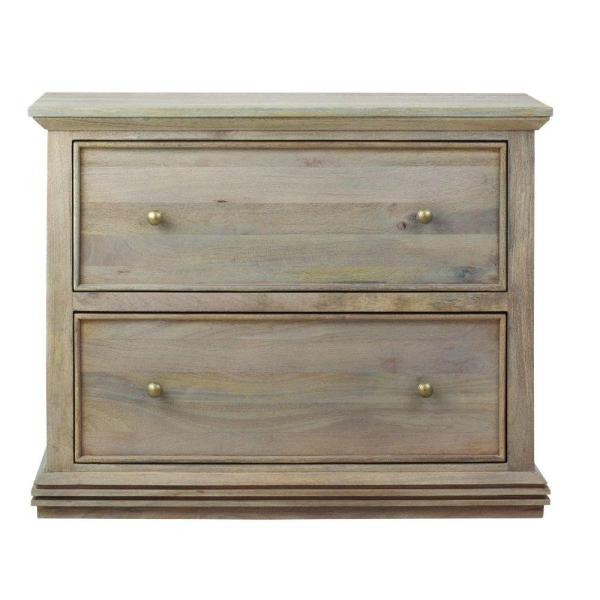 Home Decorators Collection Aldridge Antique Grey File Cabinet 9414800270