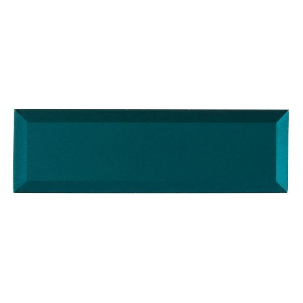 Verde Azul Beveled 2.5 in. x 9 in. x 8mm Glossy Glass Blue Subway Tile (5.6 sq. ft. / case)