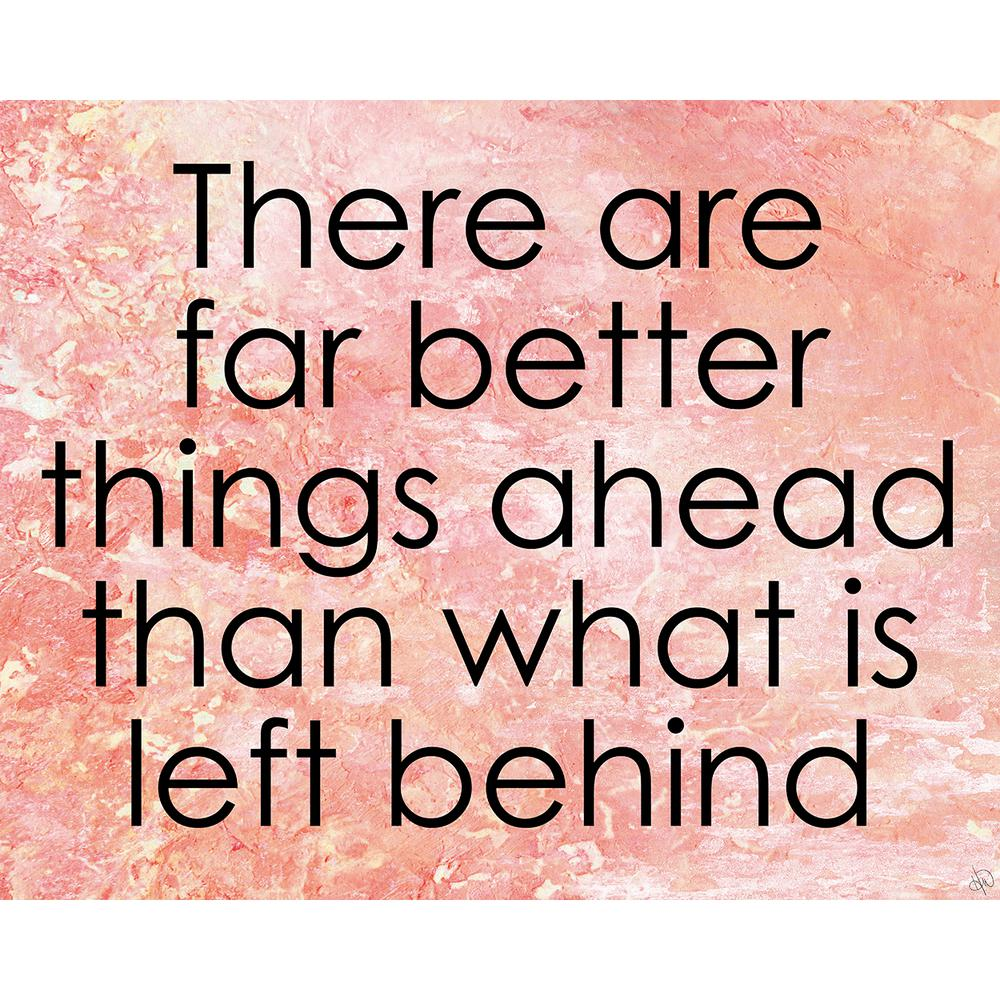 "20 in. x 24 in. ""Better Things Ahead"" Wrapped Canvas Wall"