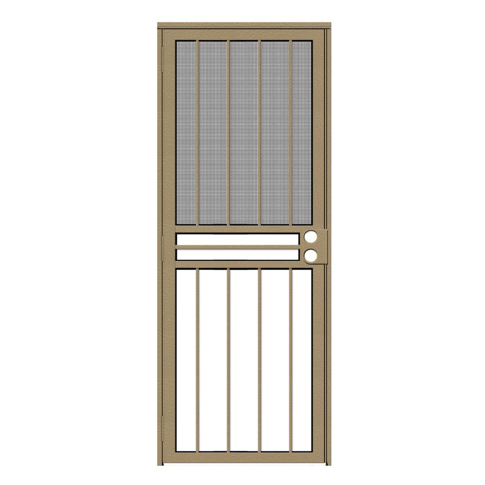 unique home designs 32 in x 80 in paladin tan recessed mount all season security door with. Black Bedroom Furniture Sets. Home Design Ideas