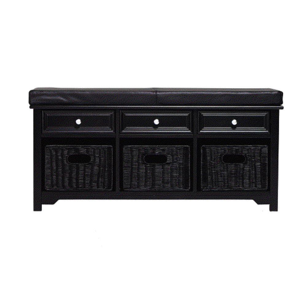 Home decorators collection black bench 3491430210 the for Home decorators bench