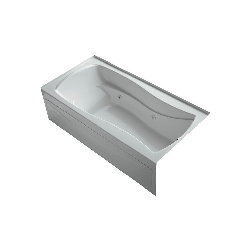 KOHLER Mariposa 6 ft. Whirlpool Tub in Ice Grey-DISCONTINUED