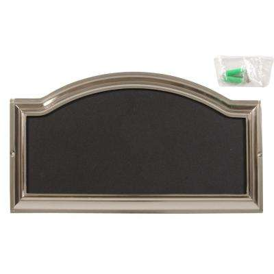Distinctions Nickel Plated Rectangular Address Plaque