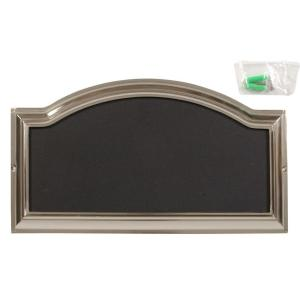 The Hillman Group Distinctions Nickel Plated Rectangular Address Plaque by The Hillman Group