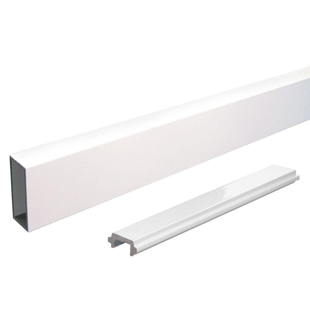 Peak Aluminum Railing 4 ft. Aluminum Wide Picket and Spacer Kit in White