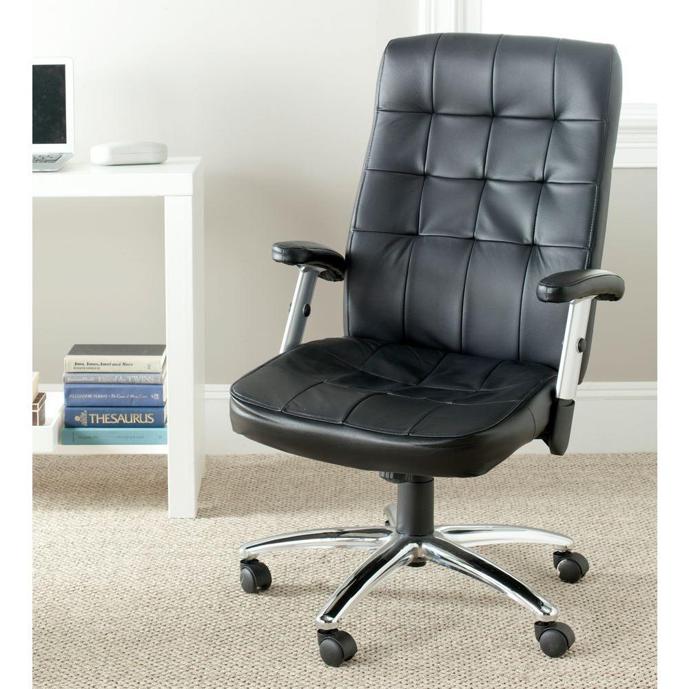 Olga Black Leather Office Chair